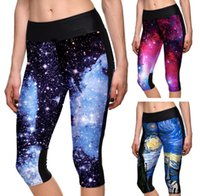 Wholesale Women Yoga Running Outdoor Sport Elastic Exercise High Waist Leggings Gym Fitness Slim Capri Pants Sexy cropped trousers