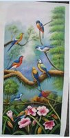 Wholesale Wall art birds designs canvas oil painting by numbers kits