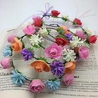Wholesale Lowest Price Summer Style Girls Flower Headband Women Hair Accessories Wedding Head Wear Bride Hair Accessories