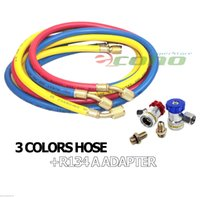 Wholesale W HIGH LOW QUICK ADAPTERS HVAC R12 R134A R22 PSI burst pressure CHARGING TESTING COLOR HOSES
