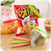 Wholesale 12pcs set Food Snack Storage Seal Sealing Bag Clips Sealer Clamp Plastic Tool Kitchen Tool Multicolor
