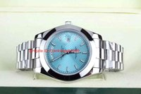 asia stainless - Luxury High Quality Brand Watch Ice blue oblique Plaid Luminescent Asia Movement Automatic Mens Men s Watches
