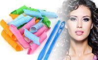 Wholesale Plastic Reusable Hair Curlers Waver DIY Magic Hair Styling Roller Curler Leverag Tool CM CM CM CM Magic Hair Curler Set