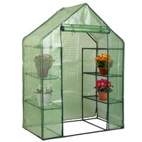 Wholesale 4 Tier Green House New Portable Mini Shelves Walk In Greenhouse Outdoor