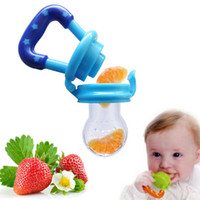 Wholesale Portable Baby Infant Food Nipple Feeder Silicone Pacifier Fruits Feeding Supplies Soother Nipples Soft Feeding Tool