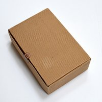 aseptic food packaging - 100Pcs cm Corrugated Kraft Paper Box Carton Box Wedding Birthday Party Favors Candy Baking Cake Pack Package