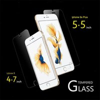 Wholesale 2016 Iphone s se c p s sp D MM ClearTpempered Glass Screen Protector Retail packing