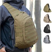 advanced riding - Field Tactical Chest Sling Pack Men Outdoor Sport A4 One Single Shoulder Bag Man Big Large Ride Travel Bagpack Advanced Military