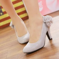 affordable heels - Affordable Woman s Best Wedding Shoes High Heels Platform Closed Toe Pumps Silver Red Gold Dress Shoe For Brides