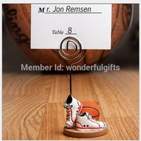basketball place cards - wedding party decoration Basketball or football Themed shoes Place name Card Holders Sport Theme
