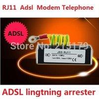 Wholesale RJ11 ADSL MODEM TELEPHONE lightning protection device outdoor power surge arrester electrician lightning protection device