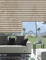 Wholesale Custom Made Shade Translucent Roller Zebra Blinds in Beige Curtains for Living Room Colors Are Available H04