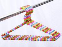 beautiful coat hangers - Sainwin cm pearl plastic hanger colorful crystal ball beautiful hangers for clothes pegs coat suit dress hanger