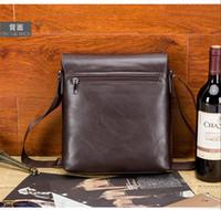 Wholesale 2016 England Style Men Casual Business Shoulder Bags High Quality Flap Bags Cover Cross Bady Bags Men Plaid Messenger Bags Black Brown