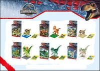 Wholesale New hot sell toys Jurassic World Park Minifigures Dinosaur Bricks Mini Figures Building Blocks toys with play card