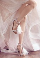 beige dance shoes - 2016 New Diamond Ostrich Hair Sexy High heeled Sandals Gladiator Shiny Dance Shoes T Strap Crystal Wedding Shoes Woman Party Shoes