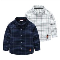 Wholesale 2016 autumn pure cotton plaid long sleeve boys shirts kids t shirt children shirts child shirt children clothes kids clothing BS001