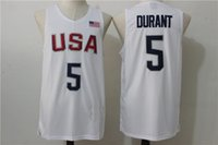 basketball jersey uniform - Durant USA Dream Team Jersey White Mens Basketball Jerseys Olympic Games Basketball Shirts Cheap Basketball Uniforms In Stock