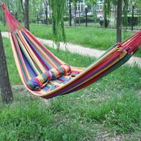 Wholesale In the new outdoor travel canvas hammock super light leisure hammock