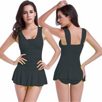 Cheap Skirt style Cover belly show thin push up chest Hot spring bathing suit Sex appeal one piece swimsuit