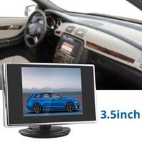3,5 pouces 320 x 234 couleur TFT-LCD de format de poche arrière de voiture moniteur avec 2 canaux d'entrée vidéo DC 12V / 24V CMO_355
