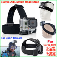 anti helmet - GoPro Head Strap Adjustable Headstrap Helmet Mount Belt Anti slide Glue Mount For Gopro Hero Sj4000 Sport Camera Accessories
