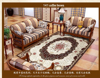 acrylic coffee tables - Floral Blending carpet Big size Persian ground mat office room carpet coffee table carpet pastoral home decoration