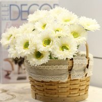 beautiful desktop - 30pcs pack Romantic And Beautiful Artificial Gerbera Sunflowers for Wedding Party Fit For Home Shop Office desktop Decorations