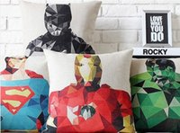 Wholesale Diamond edition American hero Hulk iron bat super captain craftsman pillow decorative pillows euro case arts painting gift