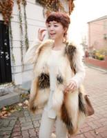 Cheap 2016081729 Women Warm Winter Faux Fur Waistcoat Shaggy Vest Jacket Shawl Coat Outwear Hot Selling