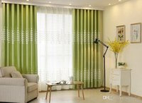 Wholesale Modern fashion refreshing Rural style jacquard The grass and grass blackout curtain for living room the bed room MD0030