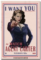 agent wanted - Hayley Atwell Agent Carter TV Series I Want You Art Silk Poster x36inch