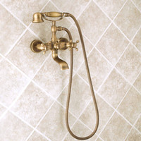 bath faucet porcelain - Antique bath shower faucet bronze porcelain shower faucet bathroom telephone bath faucet with hand shower bathroom shower tap