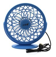 Wholesale Portable USB Desk Fan Gadget Laptop USB Ventilador Cooling Fan modes Degree Adjustable