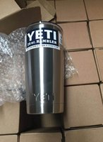 Wholesale newYETI oz Cup Cooler YETI Rambler Tumbler For Travel Vehicle Beer YETI Mug Tumblerful Bilayer Vacuum Insulated Stainless Steel