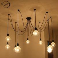big lofts - Loft Retro Spider Chandelier Lighting DIY Lights Edison Retro vintage E27 AC V V big black lighting chandelier modern