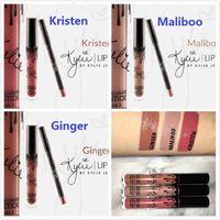 Wholesale A10pcs IN STOCK Kristen Ginger Maliboo KYLIE JENNER LIP KIT Kylie Matte Liquid Lipstick Lip Liner Kylie lip New Color