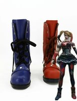 batman shoes for adults - New Batman Harley Quinn Movie Halloween Cosplay Costumes Shoes Boots Custom Made For Adult Women