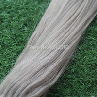 Wholesale Micro Loop Ring Links Straight Silver Grey Human Remy Hair Extensions g g Strand Brazilian Human Extension Hair