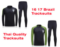 athletic kit - Benwon Brazil soccer kit thai quality football jackets brasil full sleeve winter outdoor tracksuits athletic training long trousers