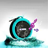 Wholesale Waterproof Speaker C6 Bluetooth Mini Sound Box Hook Suction Cup Wireless Microphone Hands free sprot speakers Free DHL Fedex