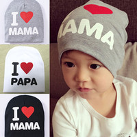 Wholesale Hot Sale New Fashion Lovely Baby Infant Kid Boy Girl Love Heart Soft Warm Hat Knitted Caps Cotton Beanie For Children YI ATO
