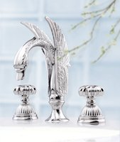 bathroom rope - Free ship chrome quot WIDESPREAD LAVATORY BATHROOM SINK SWAN FAUCET mixer tap Rope handles