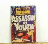 assassin poster - Assassin of Youth sexy lady Retro Metal Art Poster Vintagel Tin Signs Decor Home Club Bar Cafe Hotel x30CM SE13