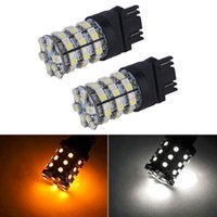 amber headlight bulbs - 2x SMD Rear Brake Lights Dual Color Switchback White Amber Turn Signal LED Light Bulbs Car Light Source Hot Selling