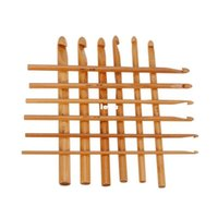 bamboo circular knitting needles - New Arrive set Sweater knitting Circular Bamboo Handle Crochet Hooks Smooth Weave Craft Needle Size