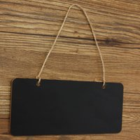 Wholesale CM Mini Message Hanging Memo Wooden Blackboard Chalkboard Notice Painting Drawing Board Wedding Home Shop Decor