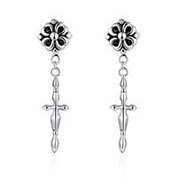 Wholesale European and American fashion personality fancy earring punk style earrings Ms female ear hook factory direct jewelry