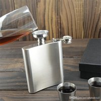 Wholesale 6ounce stainless steel hip flask alcohol flask pocket flask wine flask liquor flask