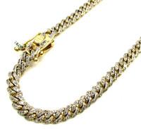 10k gold chain - 13Grams mm quot Mens k Yellow Real Gold Cuban Miami Curb Diamond Bracelet